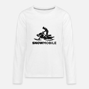 Mobile Snow mobile cool style - Kids' Premium Longsleeve Shirt