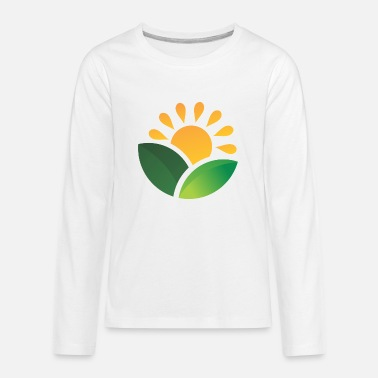 Obscure Sunrise Obscured Leaves - Kids' Premium Longsleeve Shirt