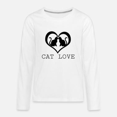 Cat Love Cat Love - Kids' Premium Longsleeve Shirt