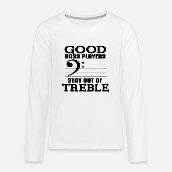 Bass Long-Sleeve Shirts - Double Bass - Kids' Premium Longsleeve Shirt white