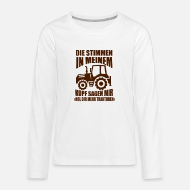 Country Life Tractors farmer gift saying - Kids' Premium Longsleeve Shirt