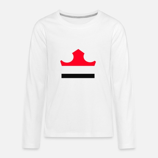 Symbol  T-Shirts - rectangle shape - Kids' Premium Longsleeve Shirt white