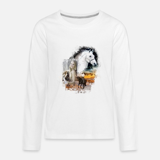 Guitar Player Long-Sleeve Shirts - KL linedance67 - Kids' Premium Longsleeve Shirt white