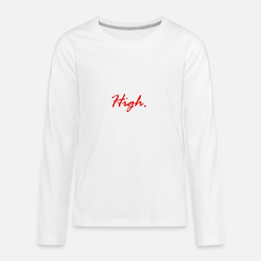 Xanax High LSD Drugs Weed Coke Molly Festival Xanax Gift - Kids' Premium Long Sleeve T-Shirt