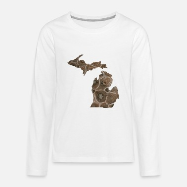 Pure Michigan Petoskey Stone Cute Funny Pure Apparel - Kids' Premium Longsleeve Shirt