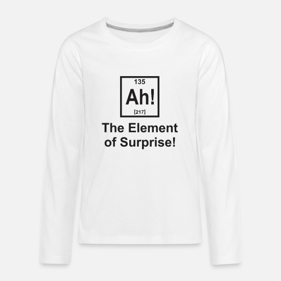 Surprise T-Shirts - The Element of Surprise - Kids' Premium Longsleeve Shirt white