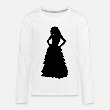 Gown Formal Gown Woman Silhouette - Kids' Premium Longsleeve Shirt
