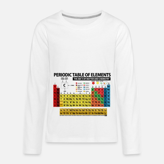 Periodic Table Long-Sleeve Shirts - Periodic Table of Elements - 2018 - Kids' Premium Longsleeve Shirt white