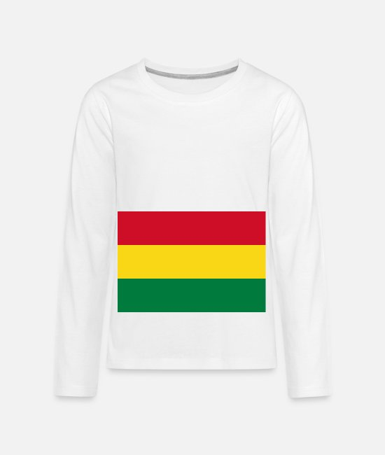 National Long-Sleeved Shirts - Bolivia country flag love my land patriot - Kids' Premium Longsleeve Shirt white