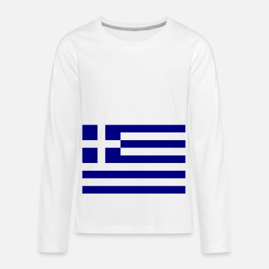 Greece country flag love my land patriot - Kids' Premium Longsleeve Shirt