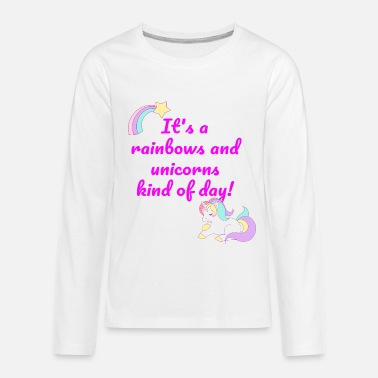 Rainbows And Unicorns Rainbows and Unicorns - Kids' Premium Longsleeve Shirt
