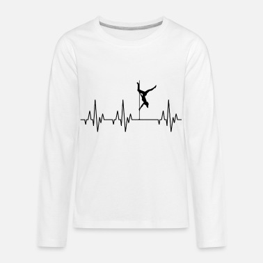 Guys Night Out Heartbeat Pole Dance Dancing Dancer - Kids' Premium Longsleeve Shirt