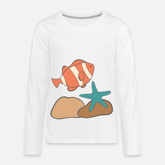 Reef T-Shirts - under water - Kids' Premium Longsleeve Shirt white