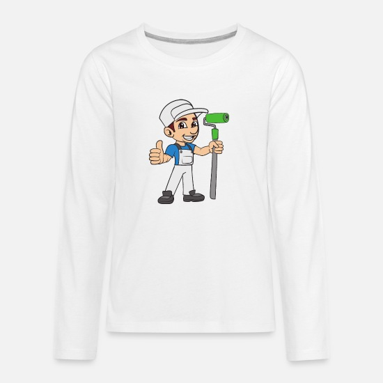 Artist T-Shirts - Painter - Kids' Premium Longsleeve Shirt white