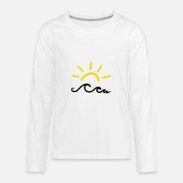 Sun Sun and waves - Kids' Premium Longsleeve Shirt