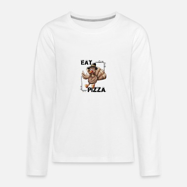 Turk Eat Pizza (thanksgiving) - Kids' Premium Longsleeve Shirt