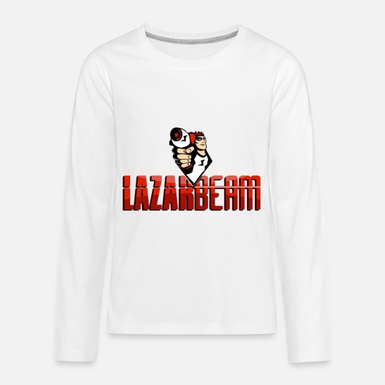 Bloody Long-Sleeve Shirts - Lazarbeam - Kids' Premium Longsleeve Shirt white