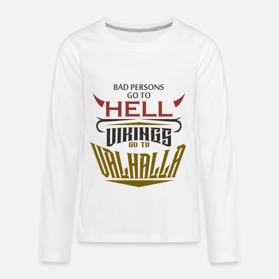 29cc5eaf4 Gift Idea T-Shirts - Warrior Vikings Valhalla Thor Odin Hell Heaven - Kids'