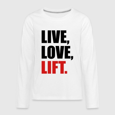 weight lifting - Kids' Premium Long Sleeve T-Shirt