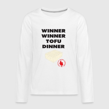 Winner Winner Tofu Dinner - Kids' Premium Long Sleeve T-Shirt