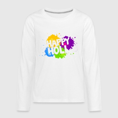 Colorful Splash HAPPY HOLI Tshirt - Kids' Premium Long Sleeve T-Shirt