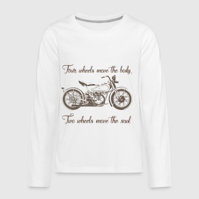 Two Wheel Move The Soul - Kids' Premium Long Sleeve T-Shirt