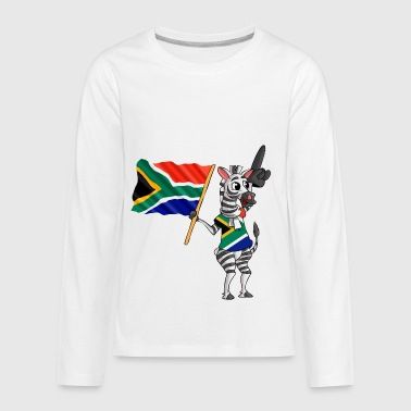 A South African Zebra - Kids' Premium Long Sleeve T-Shirt