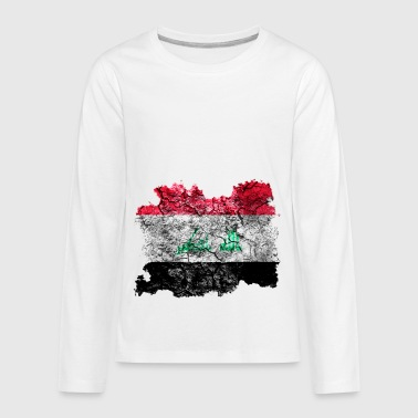 Iraq Vintage Flag - Kids' Premium Long Sleeve T-Shirt
