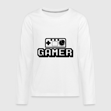 Game controller (vector) - Kids' Premium Long Sleeve T-Shirt