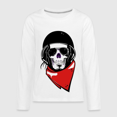 helmet motor skull - Kids' Premium Long Sleeve T-Shirt