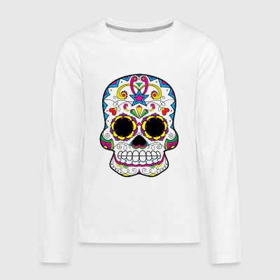 sugar_skull_with_star - Kids' Premium Long Sleeve T-Shirt