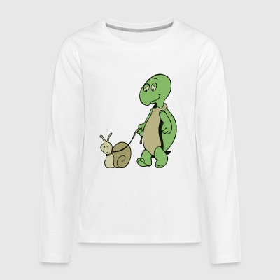 Turtle and Snail - Kids' Premium Long Sleeve T-Shirt