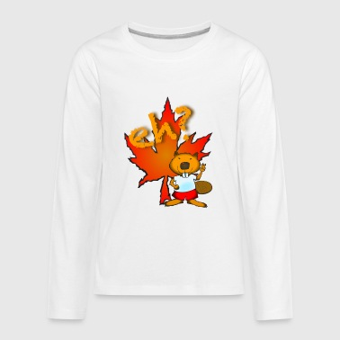 eh? is for beaver - Kids' Premium Long Sleeve T-Shirt