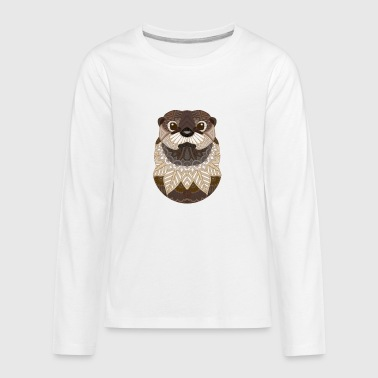 Ornate Otter - Kids' Premium Long Sleeve T-Shirt