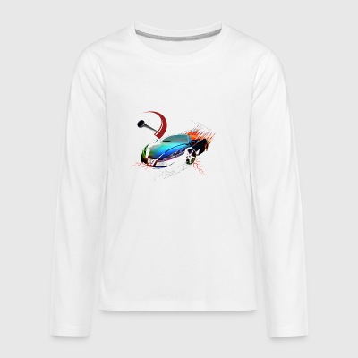 Car in motion - Kids' Premium Long Sleeve T-Shirt