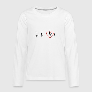 slackline design - Kids' Premium Long Sleeve T-Shirt