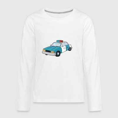 police car - Kids' Premium Long Sleeve T-Shirt