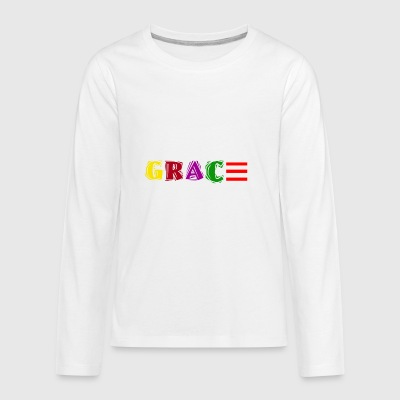 Colorful Grace - Kids' Premium Long Sleeve T-Shirt