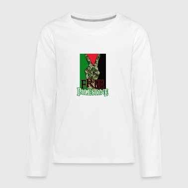 Free Palestine - Peace - Save Gaza T-Shirt - Kids' Premium Long Sleeve T-Shirt