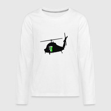 Green Martian - Kids' Premium Long Sleeve T-Shirt