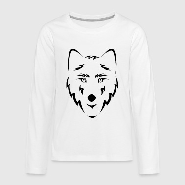 wolf wolfes wolves tribal10 - Kids' Premium Long Sleeve T-Shirt
