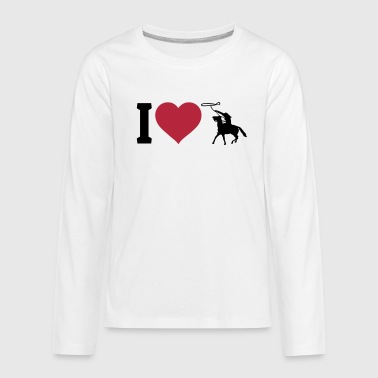 I love western riding - Kids' Premium Long Sleeve T-Shirt