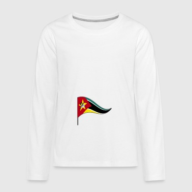 Mozambique Africa Flags Banner Ensigns - Kids' Premium Long Sleeve T-Shirt