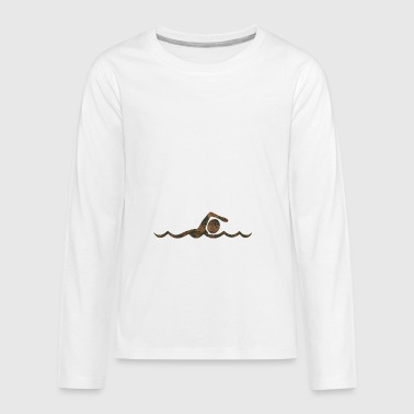 Rust Swimming - Kids' Premium Long Sleeve T-Shirt