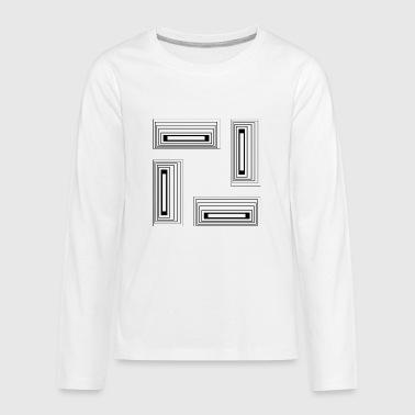 GEOMETRIC DESIGN - Kids' Premium Long Sleeve T-Shirt