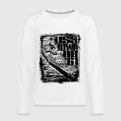 Battleship Iowa - Kids' Premium Long Sleeve T-Shirt