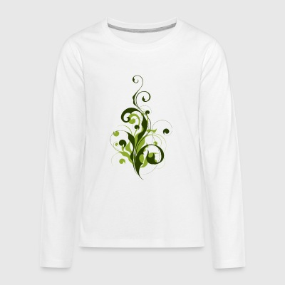 Abstract Flora - Kids' Premium Long Sleeve T-Shirt