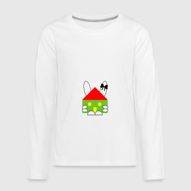 Rabbit and house - Kids' Premium Long Sleeve T-Shirt
