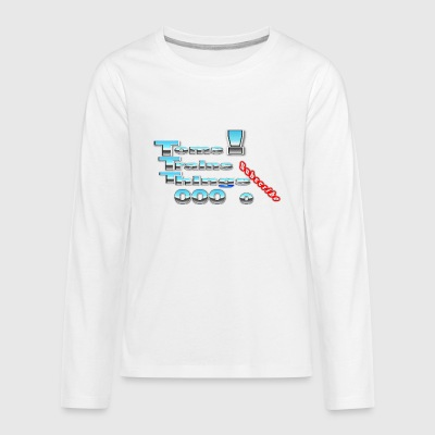 Toms Trains and Things Train Logo - Kids' Premium Long Sleeve T-Shirt