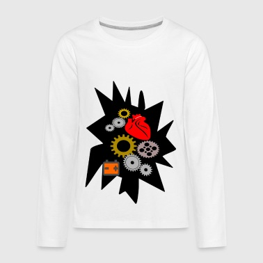 heart mechanics - Kids' Premium Long Sleeve T-Shirt